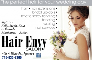 The perfect hair for your wedding day, Hair Envy Salon, Spooner, WI