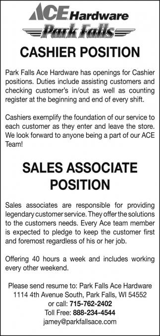 cashier sales associate duties - Kubrakubkireklamowe