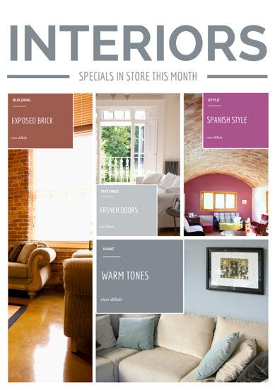 Multi-Photo Interior Design A4 Flyer - Templates by Canva - interior design flyers