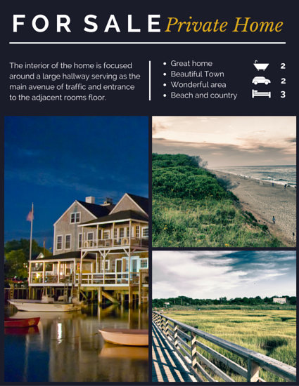 Customize 104+ Real Estate Flyer templates online - Canva - home for sale brochure