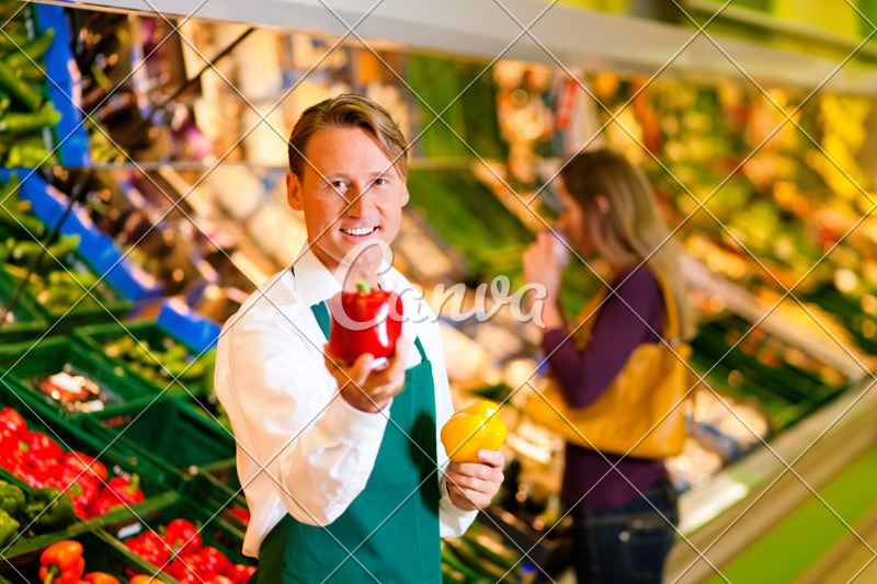 Man in Supermarket as Shop Assistant - Photos by Canva