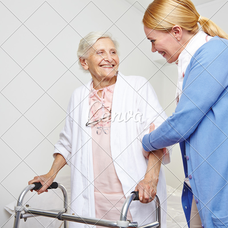 Geriatric Nurse Helping Senior Citizen Woman - Photos by Canva