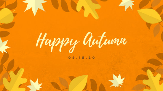 Fall Themed Computer Wallpaper Cute Pumpkin Autumn Wallpaper Templates By Canva