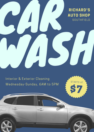 Car Wash Flyer Templates - Canva - car wash flyer template