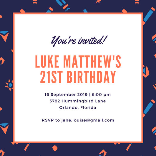 Customize 557+ 21st Birthday Invitation templates online - Canva - bday invitations templates
