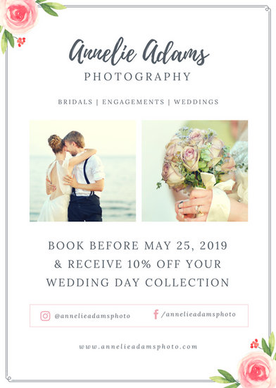 Pink Roses Wedding Photography Flyer - Templates by Canva - wedding flyer