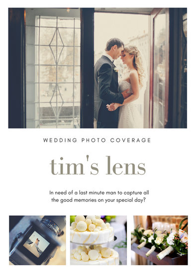 White Wedding Photography Flyer - Templates by Canva - wedding flyer