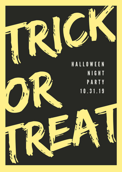 Yellow and Black Modern Typography Halloween Flyer - Templates by Canva