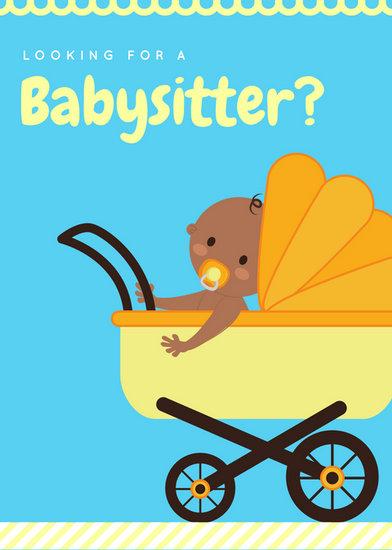 Customize 57+ Babysitting Flyer templates online - Canva