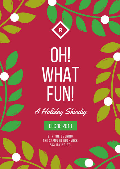 Holiday Christmas Party Poster - Templates by Canva