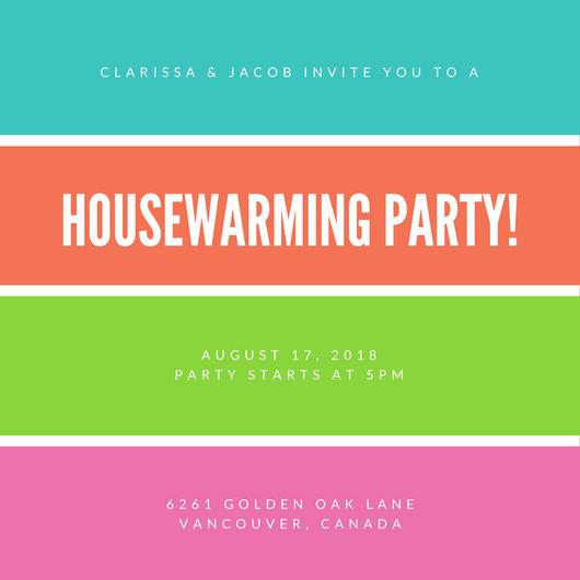 Customize 39+ Housewarming Invitation templates online - Canva