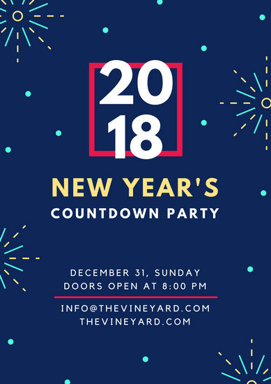 New Year\u0027s Countdown Party Holiday Poster - Templates by Canva - new year poster template