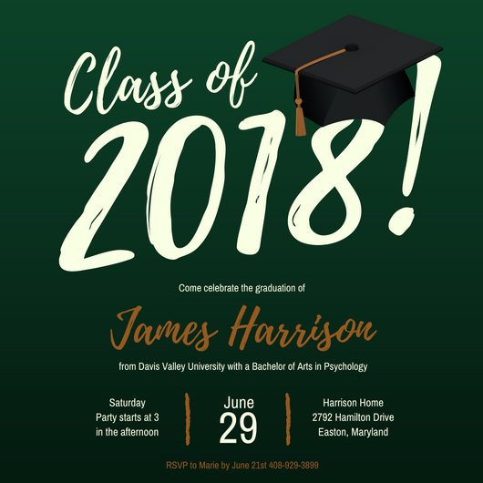 Graduation Party Invitation - Templates by Canva - graduation party invitations