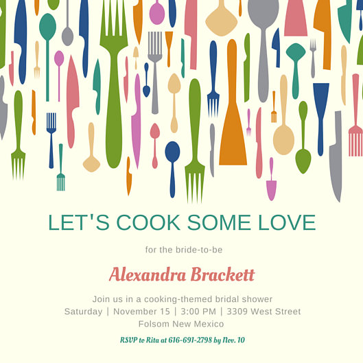 Kitchen Bridal Shower Invitation - Templates by Canva - bridal shower invitation templates