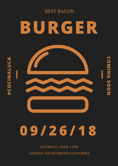 Burger Coming Soon Flyer - Templates by Canva