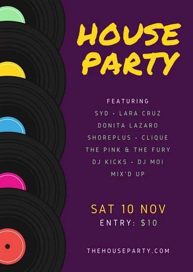house party flyer template - Jolivibramusic