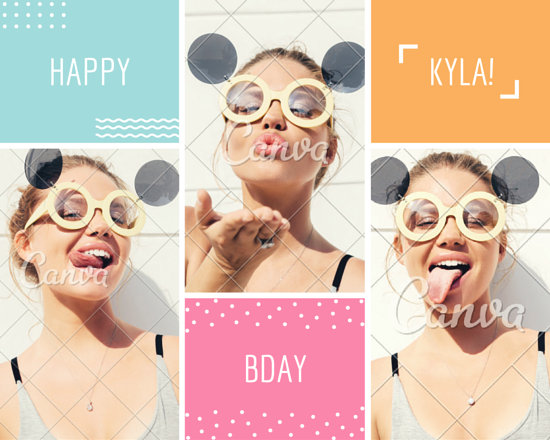 Birthday Card Photo Collage - Templates by Canva