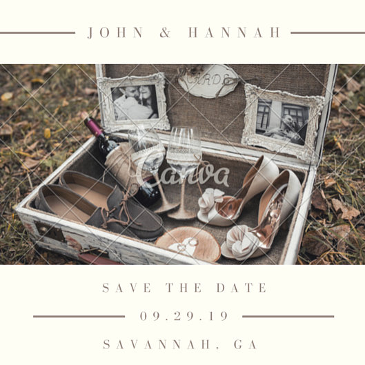 Rustic Wedding Save the Date Invitation - Templates by Canva - free wedding save the dates
