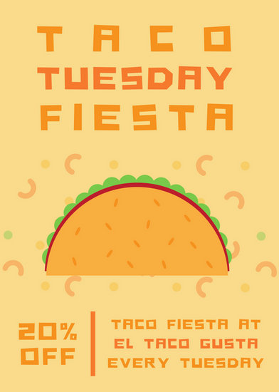 Taco Tuesday Party Flyer - Templates by Canva