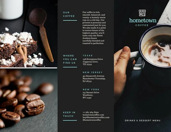 Coffee Shop Brochure - Templates by Canva