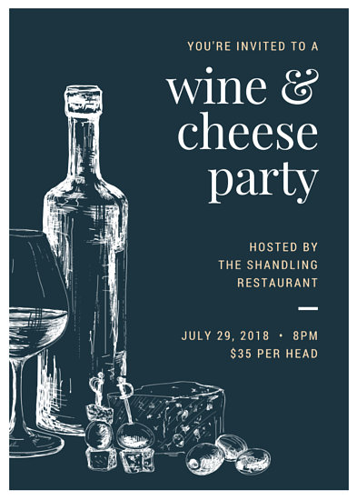 Wine and Cheese Invite Flyer - Templates by Canva - invitation flyer sample