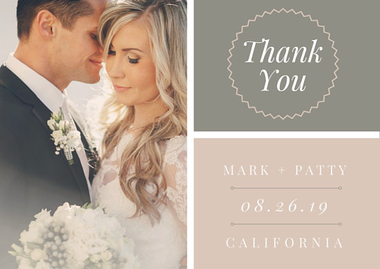 Grid Wedding Thank You Card - Templates by Canva