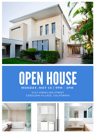 Open House Viewing Event Flyer - Templates by Canva - open house flyer