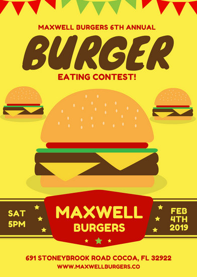 Burger Themed Event Flyer - Templates by Canva