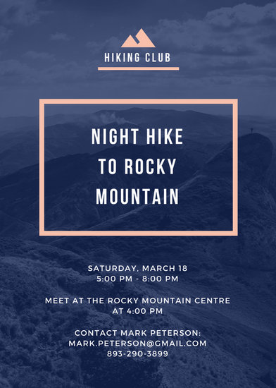 Mountain Hiking Club Flyer - Templates by Canva - club flyer background