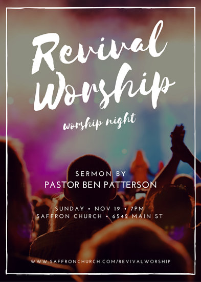 Revival Worship Church Event Flyer - Templates by Canva
