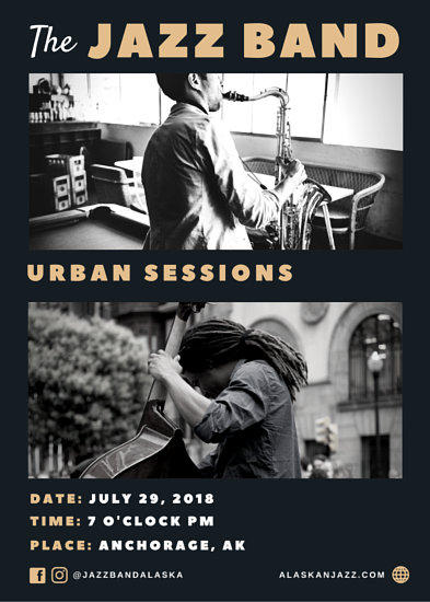 Jazz Band Promotional Flyer - Templates by Canva - promotion flyer