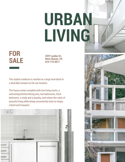 Urban House for Sale Flyer - Templates by Canva