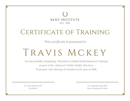 Classic Gold Training Certificate - Templates by Canva - certificate of training template