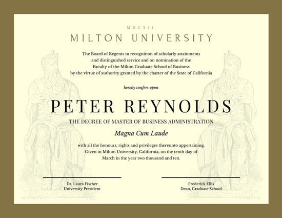 Academic Diploma Certificate - Templates by Canva - Graduation Certificate Paper