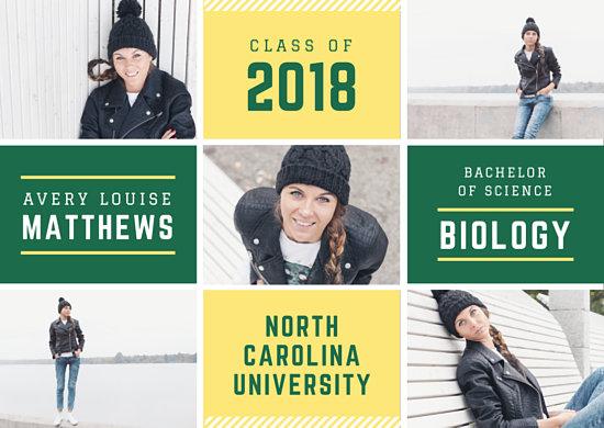 University Graduation Announcement Collage Card - Templates by Canva
