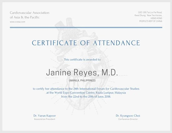 Minimalist Conference Attendance Certificate - Templates by Canva