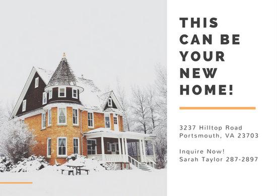Customize 141+ Real Estate Postcard templates online - Canva