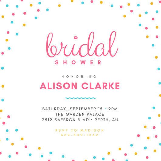 Dots Bridal Shower Invitation - Templates by Canva