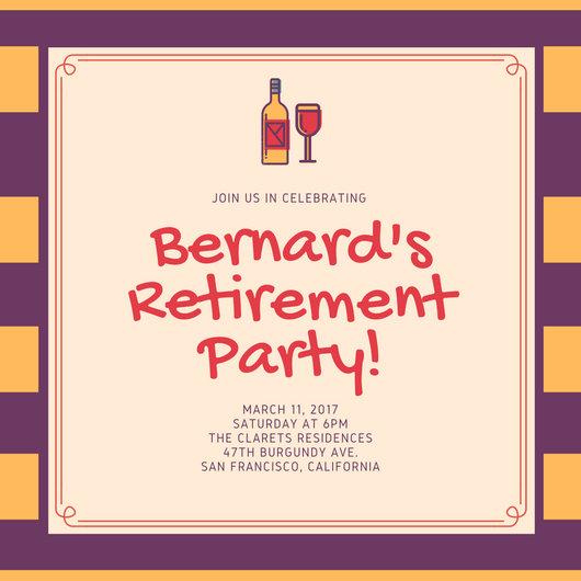Retirement Party Invitation Templates - Canva - retirement party flyer template