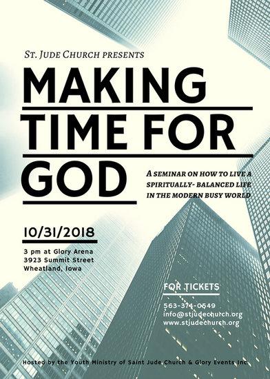 Photographic Church Seminar Flyer - Templates by Canva - seminar flyer