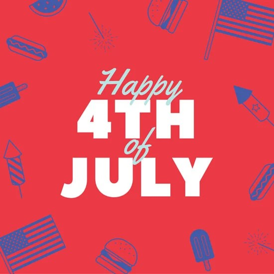 Red and Blue 4th of July Social Media Graphic - Templates by Canva