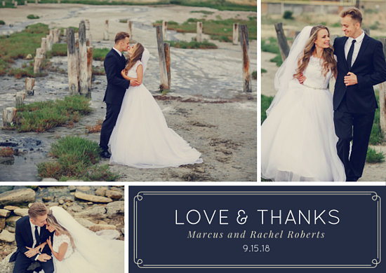 Beach Wedding Thank You Card - Templates by Canva
