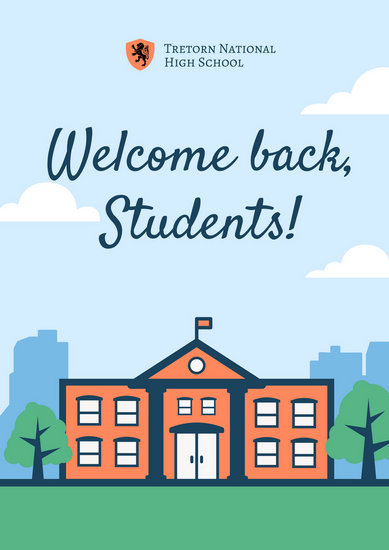 Vector Welcome Back to School - Poster - Templates by Canva