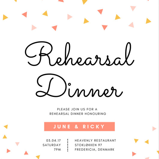 Customize 411+ Rehearsal Dinner Invitation templates online - Canva - dinner invite templates