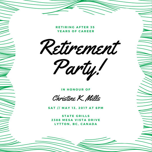 Customize 3,999+ Retirement Party Invitation templates online - Canva - retirement party card