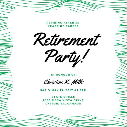 Customize 3,999+ Retirement Party Invitation templates online - Canva