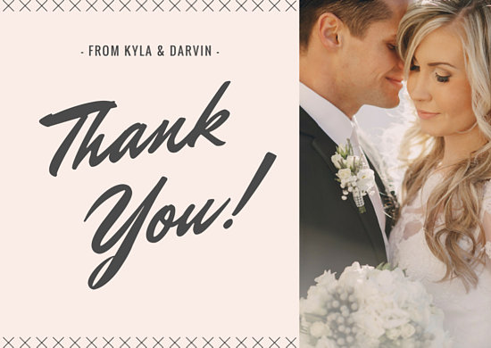 Customize 341+ Wedding Thank You Card templates online - Canva