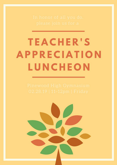 Luncheon Invitation Templates - Canva - lunch invitation templates