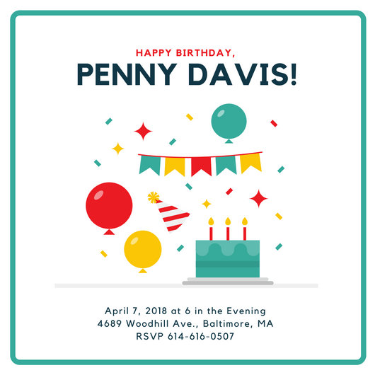 Minimalist Birthday Invitation - Templates by Canva