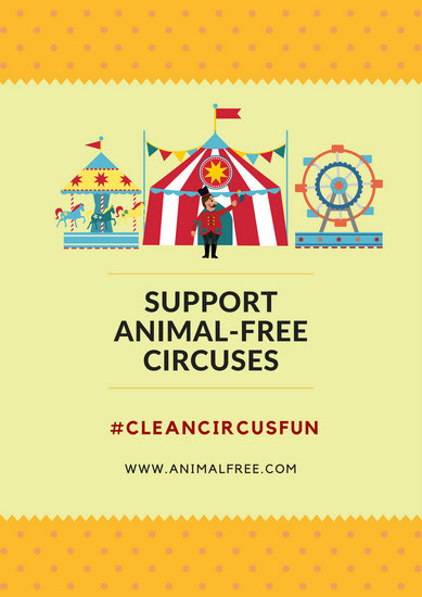Animal-Free Circus Campaign Poster - Templates by Canva